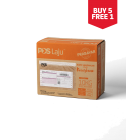 Pos Laju Prepaid Box - Orange/Red L [Buy 5 Free 1]