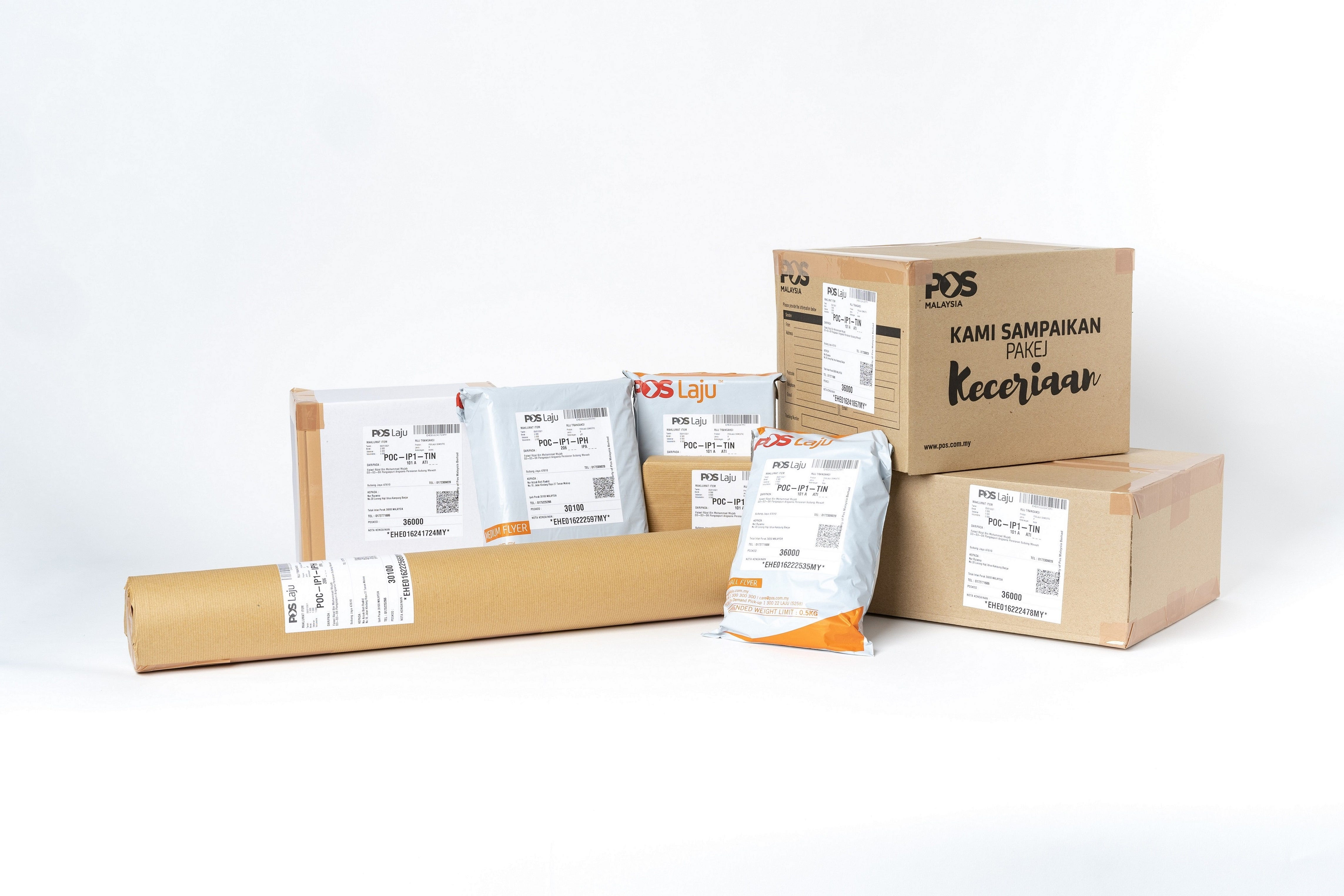 boxes, packaging, parcel, shipping, courier, pos laju